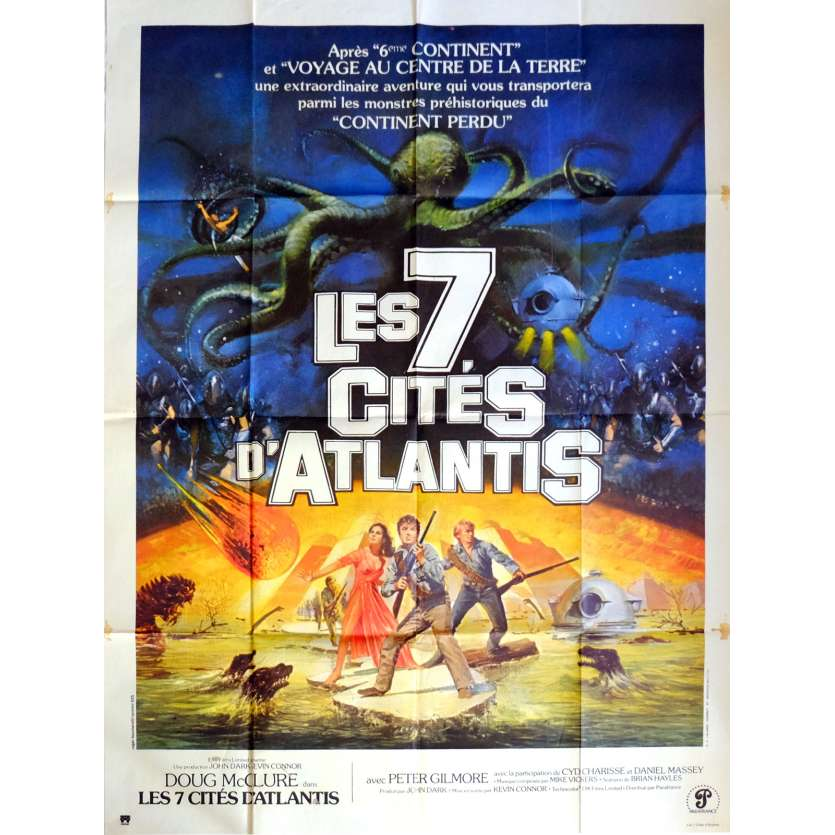 WARLORDS OF ATLANTIS Movie Poster 47x63 in. French - 1978 - Kevin Connor, Doug McClure