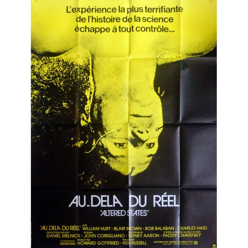 AU-DELA DU REEL Affiche de film 120x160 cm - 1980 - William Hurt, Ken Russel
