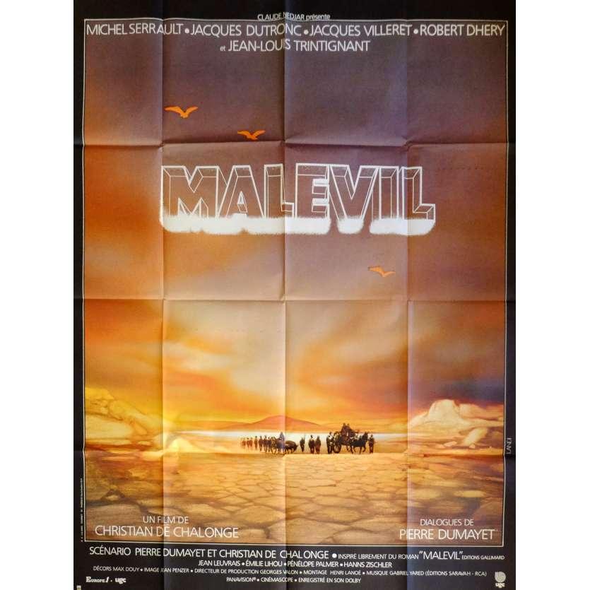 MALEVIL Affiche de film 120x160 cm - 1981 - Michel Serrault, Christian de Chalonge