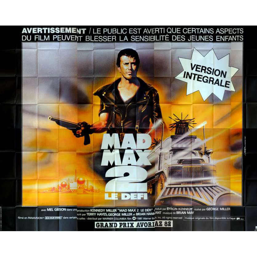 MAD MAX 2: THE ROAD WARRIOR Movie Poster 158x118 in. French - 1982 - George Miller, Mel Gibson