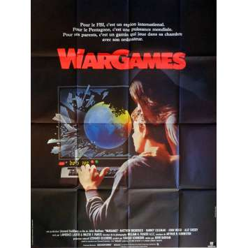 WAR GAMES Movie Poster 47x63 in. French - 1983 - John Badham, Matthew Broderick