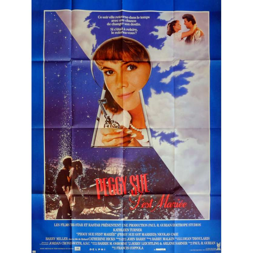 PEGGY SUE GOT MARRIED Movie Poster 47x63 in. French - 1986 - Francis Ford Coppola, Kathleen Turner
