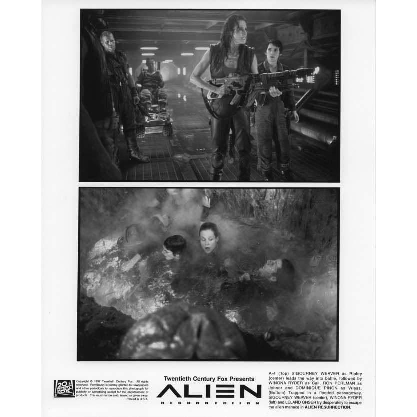 ALIEN LA RESURRECTION Photo de presse N3 20x25 cm - 1997 - Sigourney Weaver, Jean-Pierre Jeunet