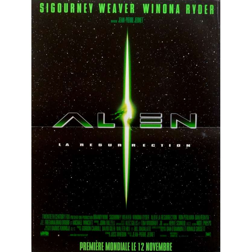 ALIEN RESURRECTION Movie Poster 15x21 in. French - 1997 - Jean-Pierre Jeunet, Sigourney Weaver