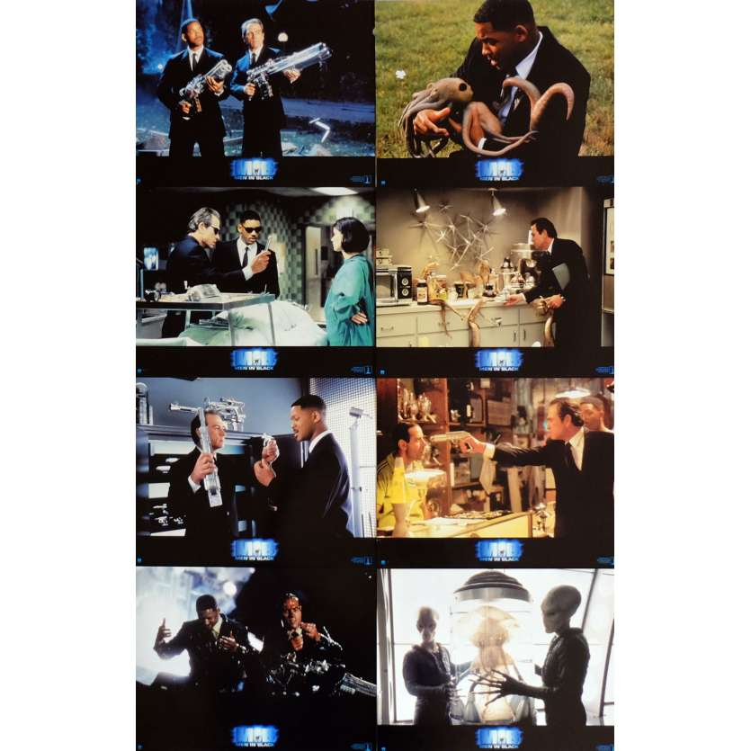 MEN IN BLACK Lobby Cards x8 9x12 in. French - 1997 - Barry Sonnenfeld, Will Smith