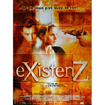 EXISTENZ Movie Poster 47x63 in. French - 1999 - David Cronenberg, Jude Law