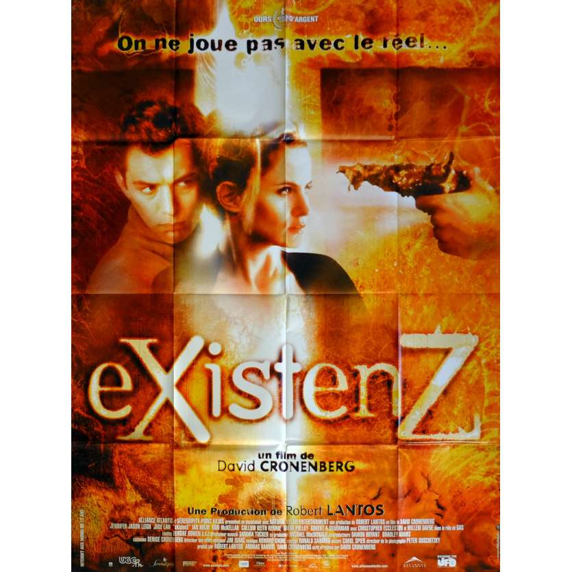 EXISTENZ Movie Poster 47x63 in. French - 1999 - David Cronenberg, Jude Law
