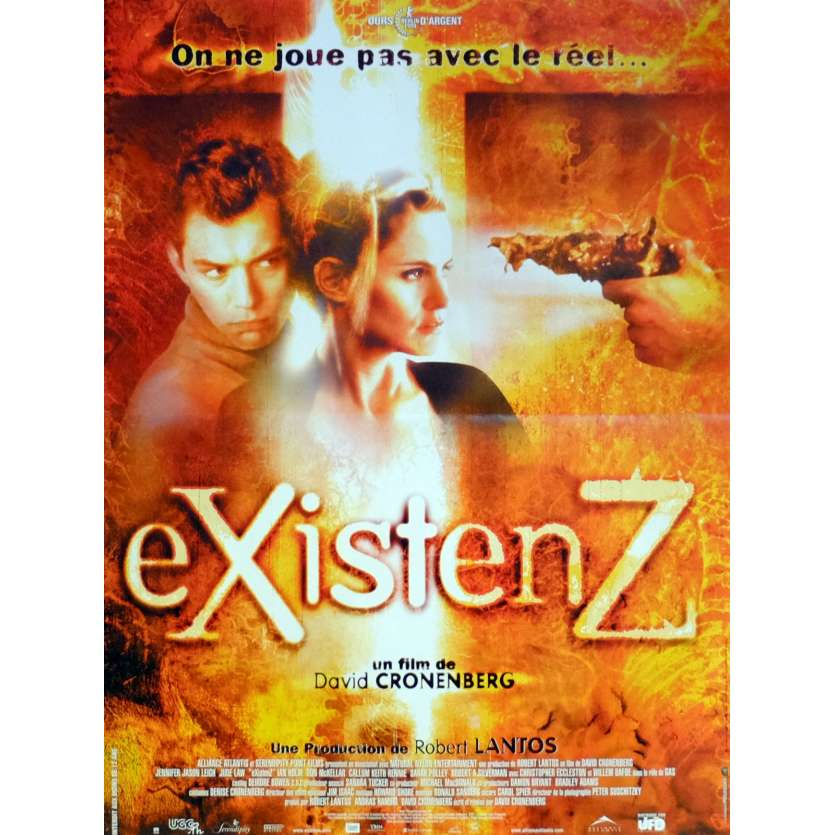 EXISTENZ Movie Poster 15x21 in. French - 1999 - David Cronenberg, Jude Law
