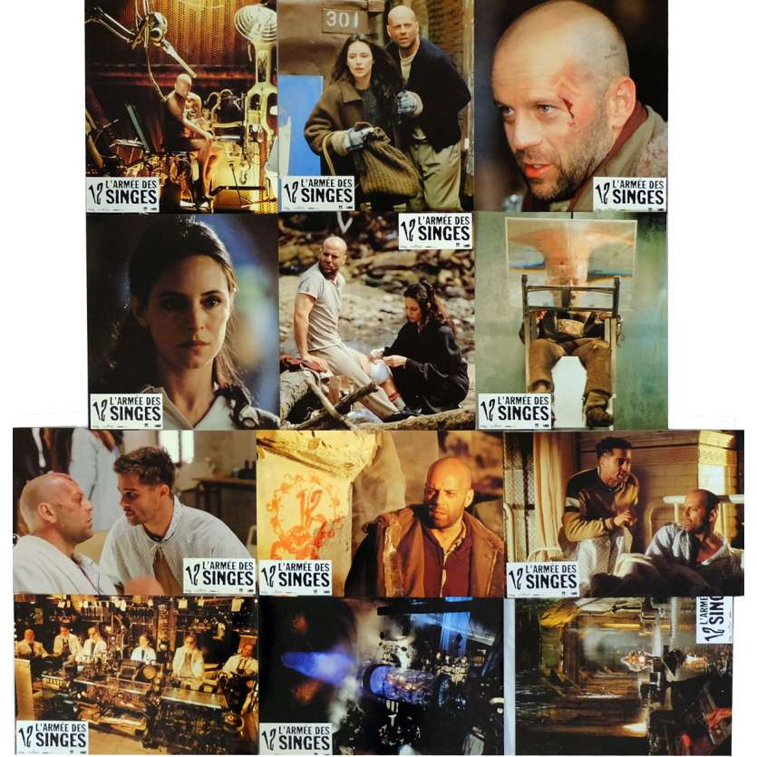 12 MONKEYS Lobby Cards x12 9x12 in. French - 1995 - Terry Gilliam, Bruce Willis