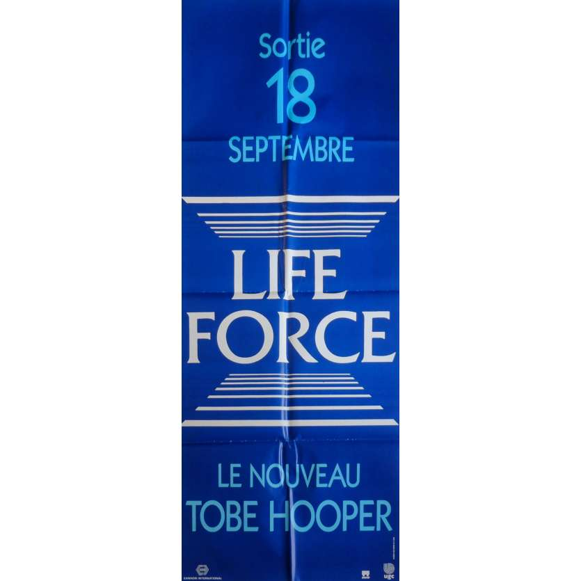LIFEFORCE Movie Poster 23x63 in. French - 1985 - Tobe Hooper, Mathilda May