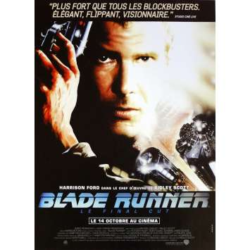 BLADE RUNNER Movie Poster 15x21 in. French - 1982 - Ridley Scott, Harrison Ford