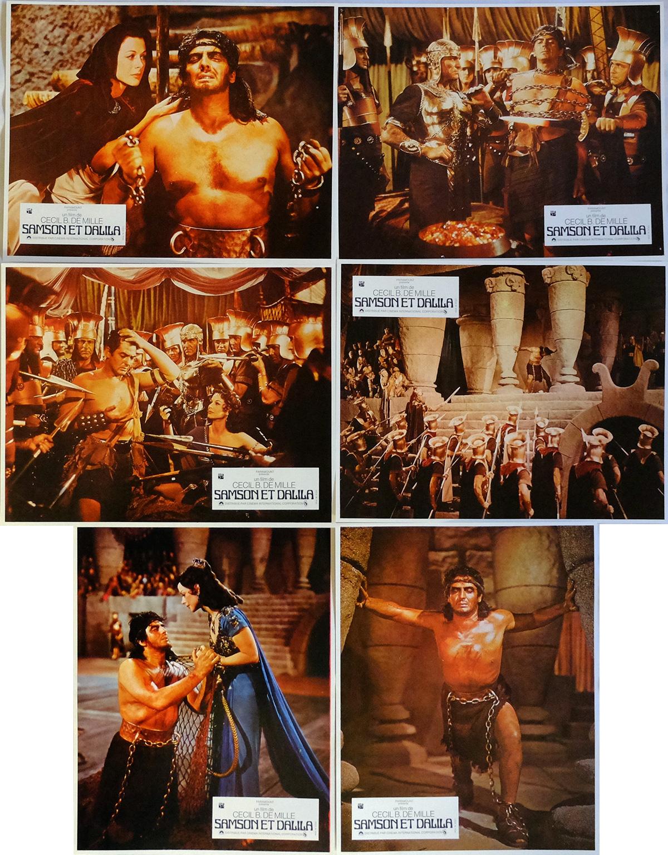 samson and delilah lobby cards x6