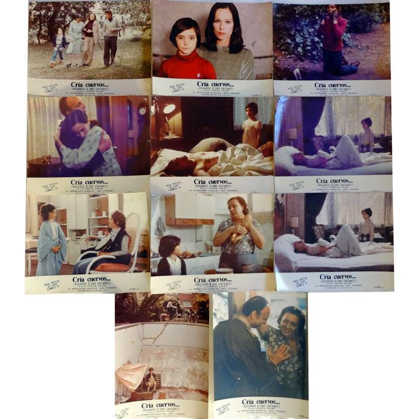 CRIA CUERVOS Lobby Cards x11 9x12 in. French - 1976 - Carlos Saura, Geraldine Chaplin