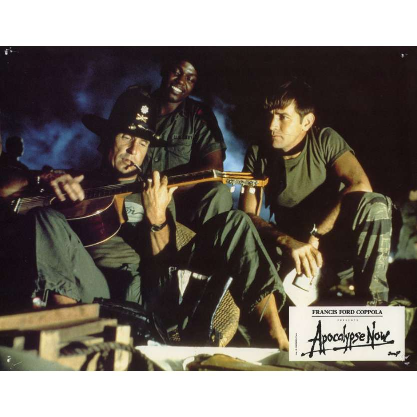 APOCALYPSE NOW Lobby Card N2 9x12 in. French - 1979 - Francis Ford Coppola, Marlon Brando