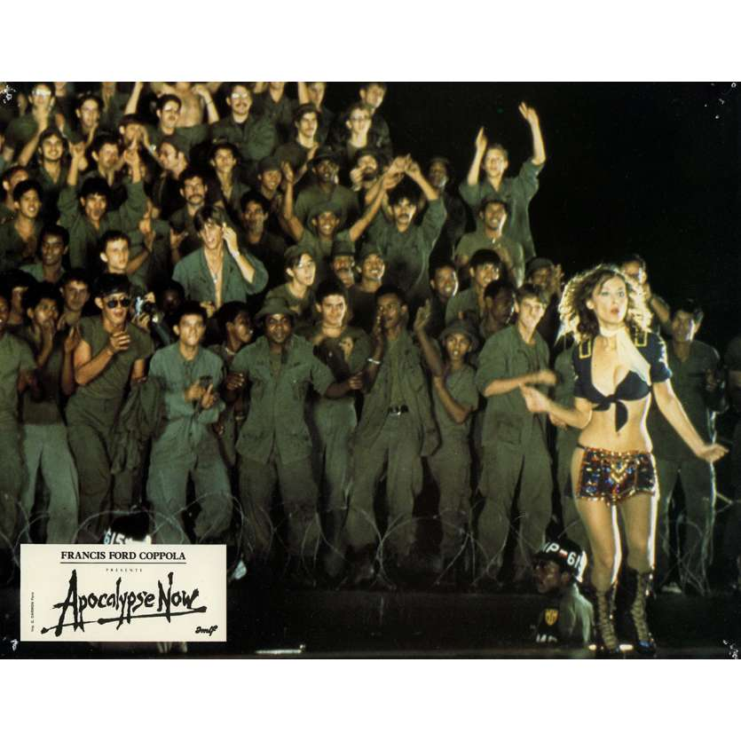 APOCALYPSE NOW Lobby Card N3 9x12 in. French - 1979 - Francis Ford Coppola, Marlon Brando