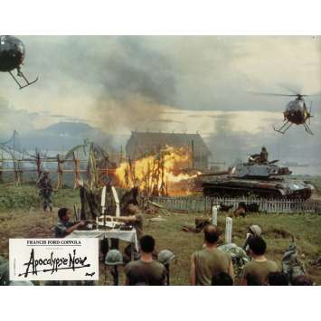 APOCALYPSE NOW Lobby Card N6 9x12 in. French - 1979 - Francis Ford Coppola, Marlon Brando