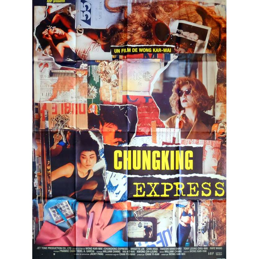 CHUNGKING EXPRESS Movie Poster 47x63 in. French - 1994 - Wong Kar Wai, Tony Leung