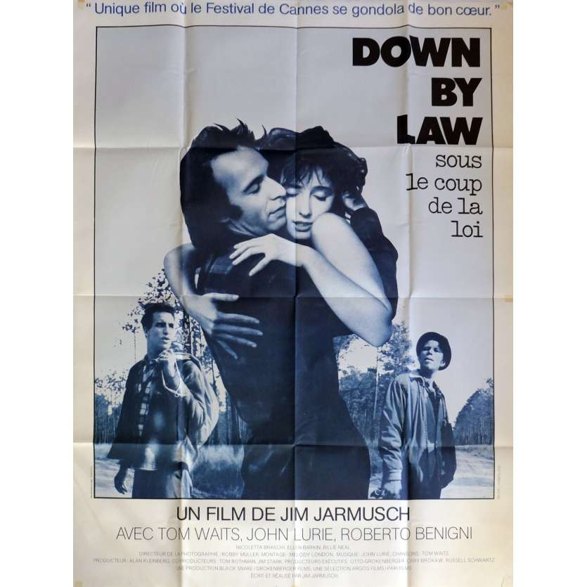 DOWN BY LAW Affiche de film 120x160 cm - 1986 - Tom Waits, Jim Jarmush