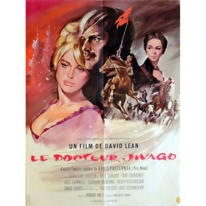 DOCTOR ZHIVAGHO Movie Poster 23x32 in. French - 1965 - David Lean, Omar Sharif