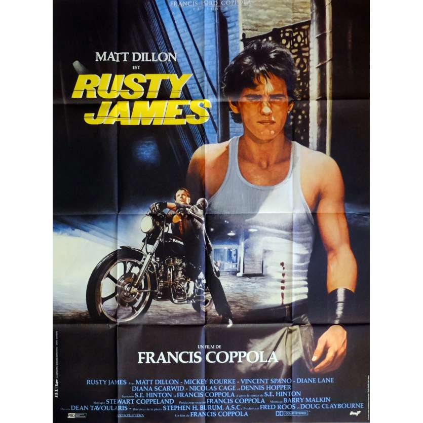 RUSTY JAMES Affiche de film 120x160 cm - 1983 - Matt Dillon, Francis Ford Coppola