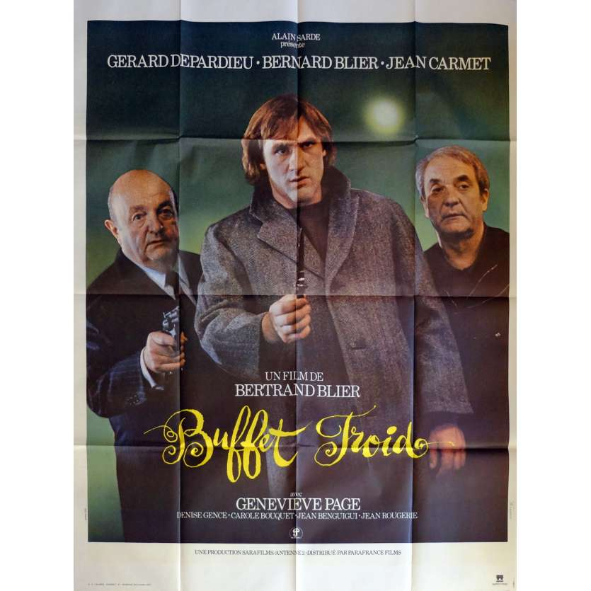 BUFFET FROID Movie Poster 47x63 in. French - 1979 - Bertrand Blier, Gérard Depardieu
