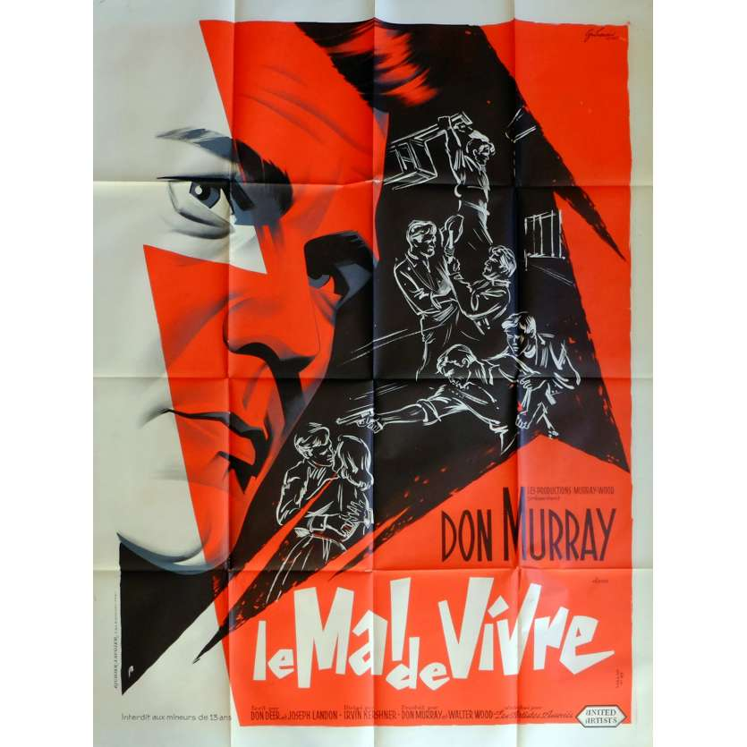 THE HOODLUM PRIEST Movie Poster 47x63 in. French - 1961 - Irvin Kerschen, Don Murray