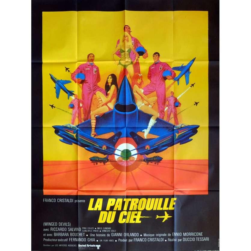 WINGED DEVILS Movie Poster 47x63 in. French - 1972 - Duccio Tessari, Riccardo Salvino