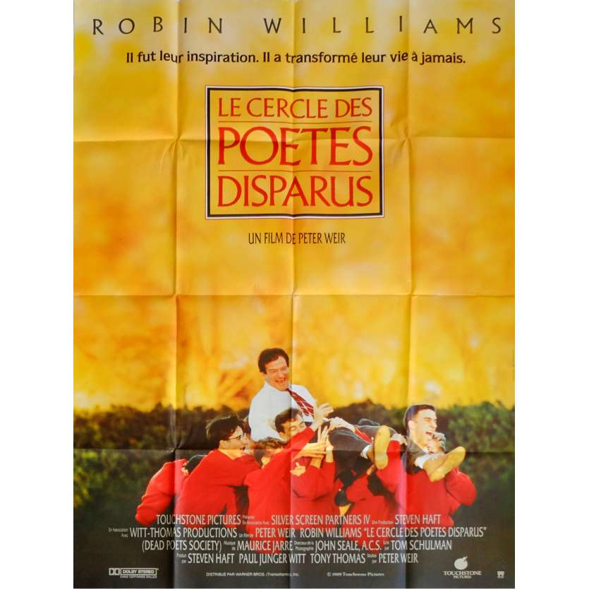 DEAD POETS SOCIETY Movie Poster 47x63 in. French - 1989 - Peter Weir, Robin Williams