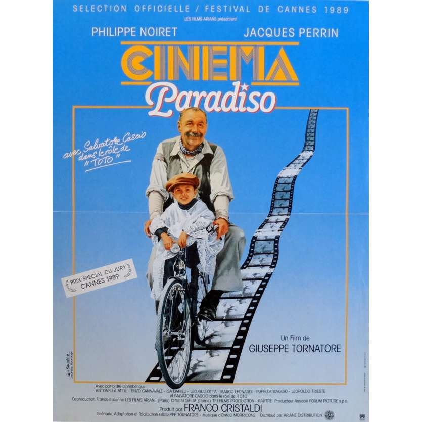CINEMA PARADISO Movie Poster 15x21 in. French - 1988 - Giuseppe Tornatore, Philippe Noiret