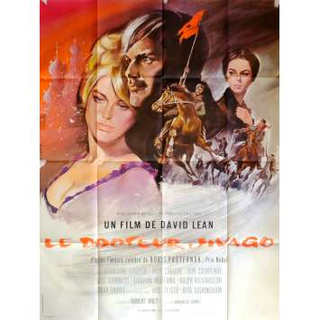 DOCTOR ZHIVAGHO Movie Poster 47x63 in. French - R1980 - David Lean, Omar Sharif