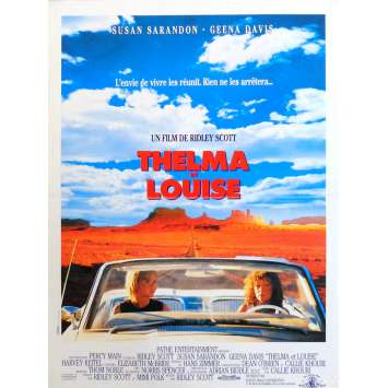 THELMA AND LOUISE Movie Poster 15x21 in. French - 1991 - Ridley Scott, Geena Davis
