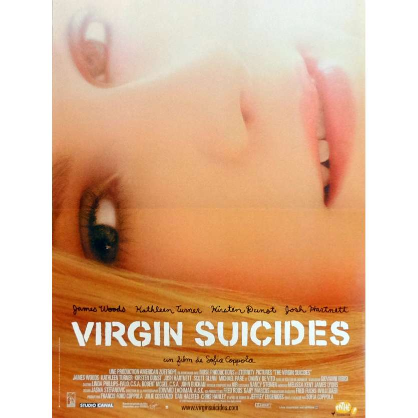 VIRGIN SUICIDES Movie Poster 15x21 in. French - 1999 - Sofia Coppola, Kirsten Dunst