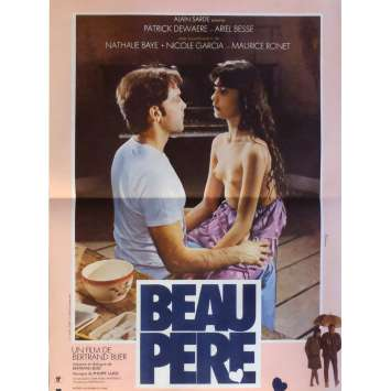 BEAU PERE Movie Poster 15x21 in. French - 1981 - Bertrand Blier, Patrick Dewaere