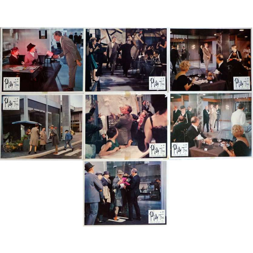 PLAYTIME Lobby Cards x7 9x12 in. French - 1967 - Jacques Tati, Rita Maiden