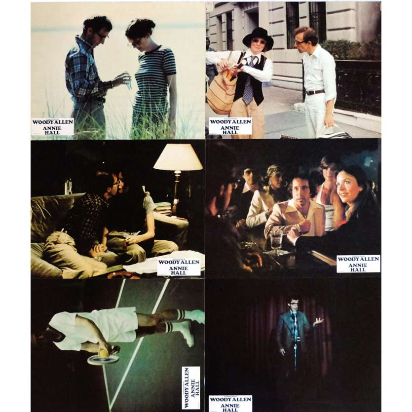 ANNIE HALL Lobby Cards x6 9x12 in. French - 1977 - Woody Allen, Diane Keaton