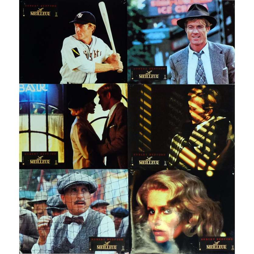 THE NATURAL Lobby Cards x6, Jeu B 9x12 in. French - 1984 - Barry Levinson, Robert Redford