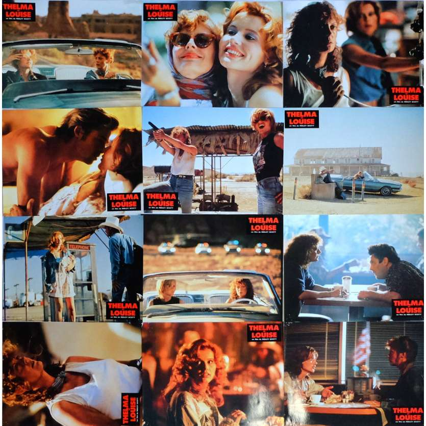 THELMA AND LOUISE Lobby Cards x12 9x12 in. French - 1991 - Ridley Scott, Geena Davis