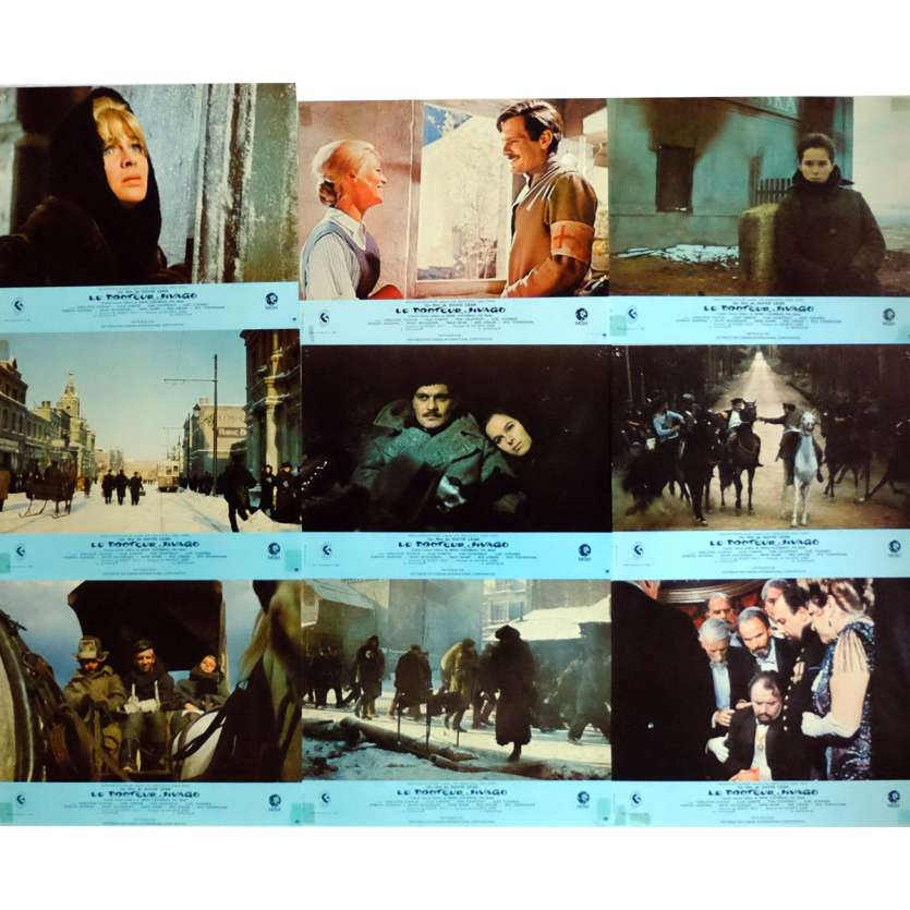 DOCTOR ZHIVAGHO Lobby Cards x9 9x12 in. French - R1970 - David Lean, Omar Sharif