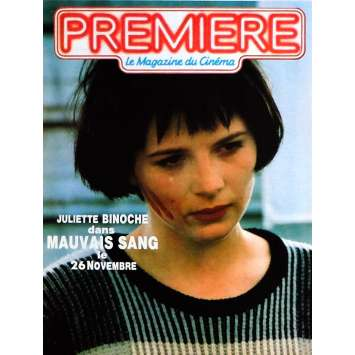 MAUVAIS SANG Herald 9x12 in. French - 1986 - Leos Carax, Juliette Binoche
