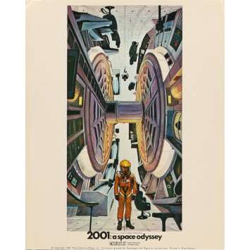 2001 A SPACE ODYSSEY Lobby Card FOH - Art 1 8x10 in. British - 1968 - Stanley Kubrick, Keir Dullea