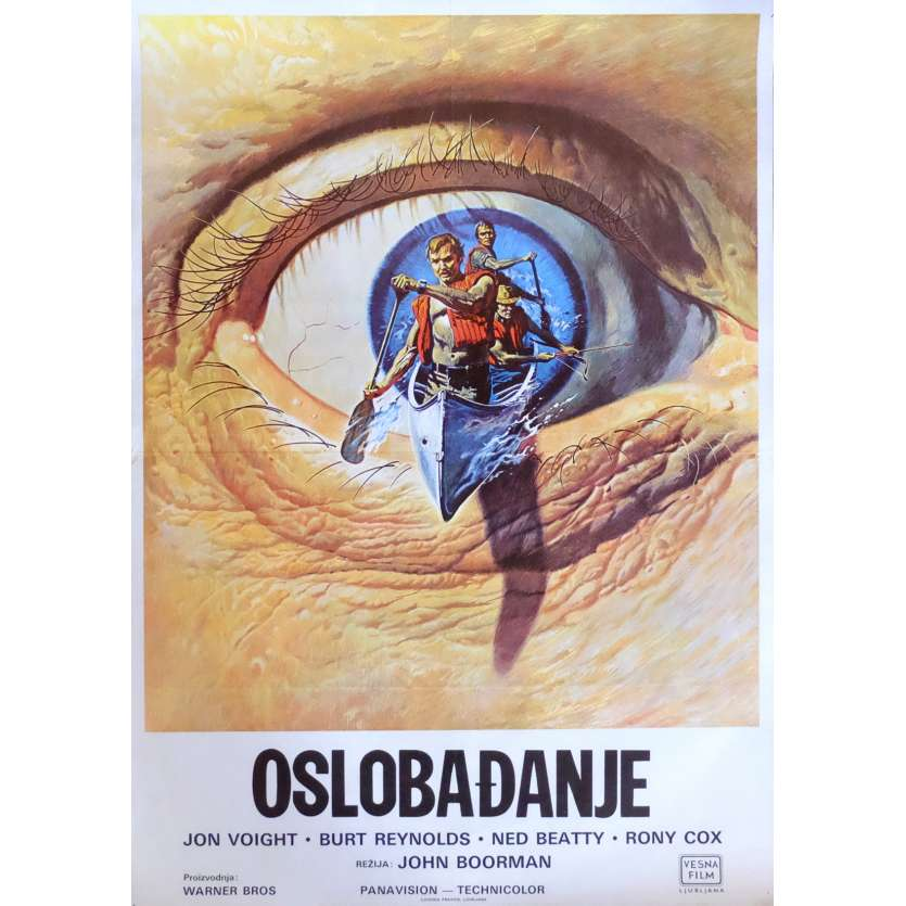 DELIVERANCE Movie Poster 27x19 in. Yougoslavian - 1972 - John Boorman, Burt Reynolds
