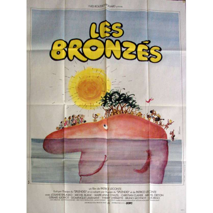 FRENCH FRIED VACATION French Movie Poster 47x63- 1978 - Patrice Leconte, Le Splendid