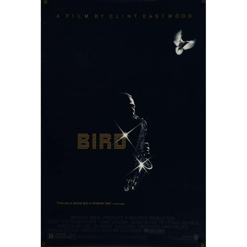 BIRD Affiche signée 69x104 cm - 1988 - Forrest Whitaker, Clint Eastwood