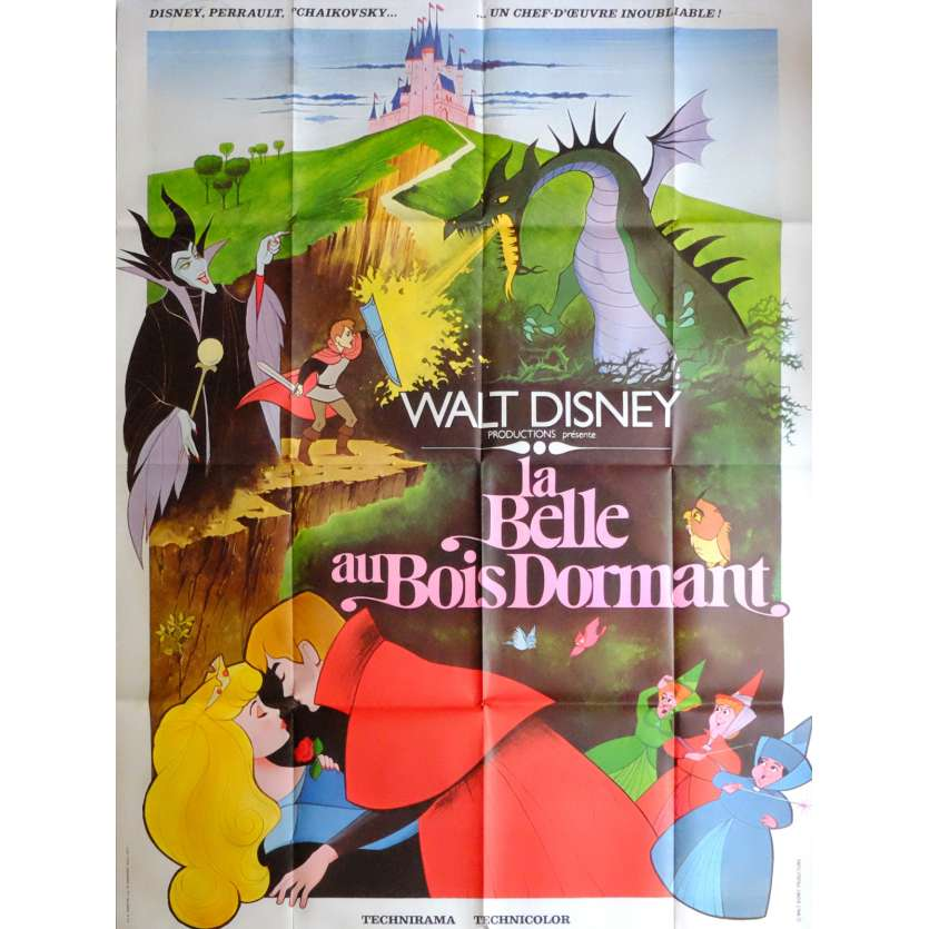 SLEEPING BEAUTY French Movie Poster 47x63 - R1971 - Walt Disney, Mary Costa