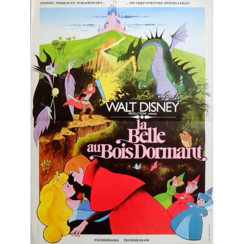 LA BELLE AU BOIS DORMANT Affiche de film 40x60 - R-1970 - Mary Costa, Disney C8