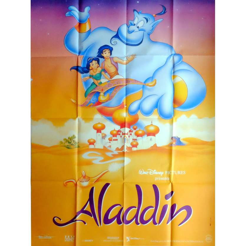 ALADDIN Movie Poster 47x63 in. French - 1992 - Walt Disney, Robin Williams