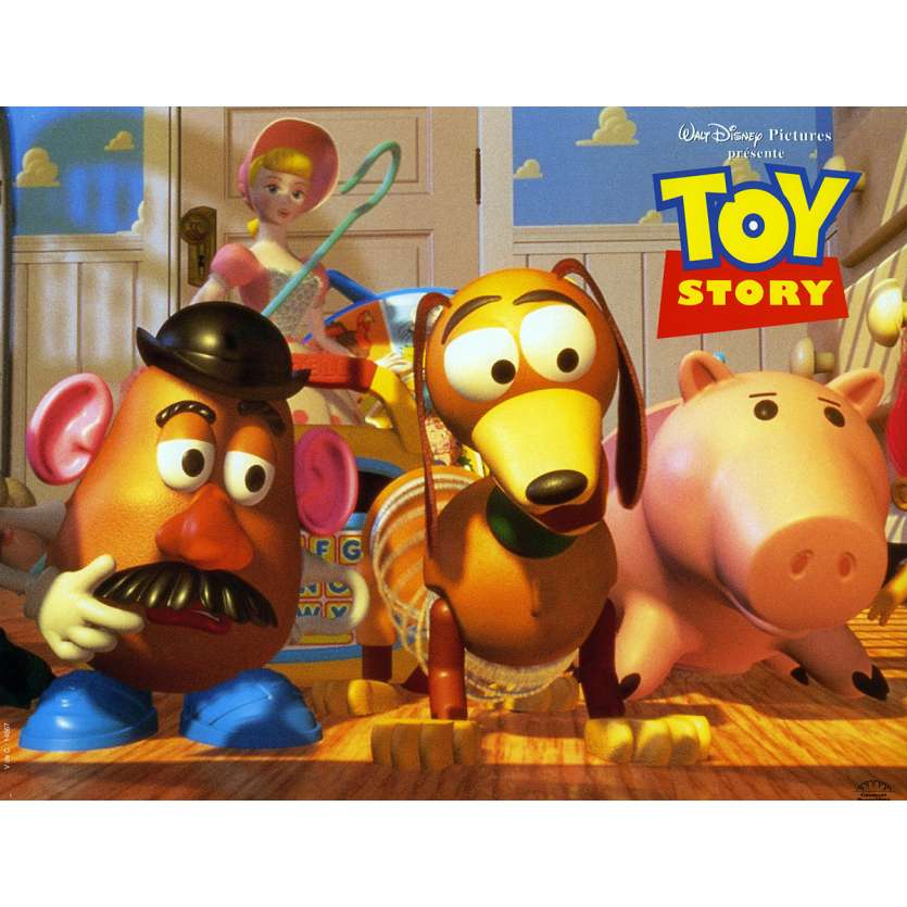 TOY STORY Lobby Card N4 9x12 in. French - 1995 - Pixar, Tom Hanks
