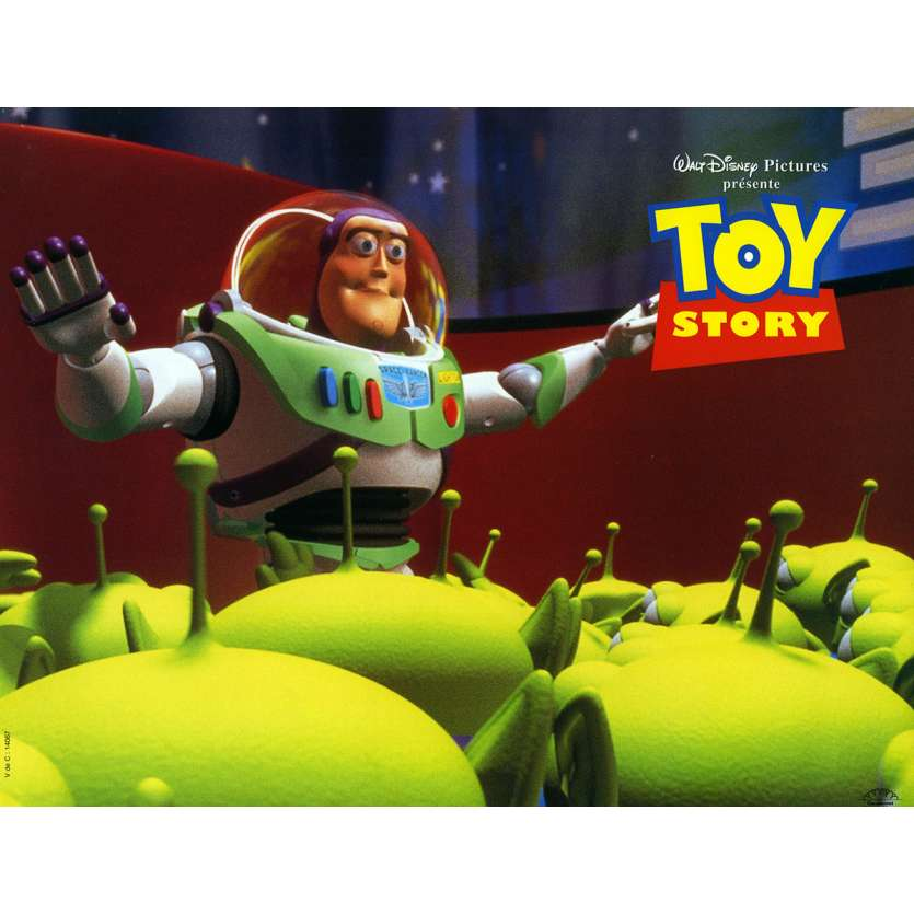 TOY STORY Lobby Card N3 9x12 in. French - 1995 - Pixar, Tom Hanks