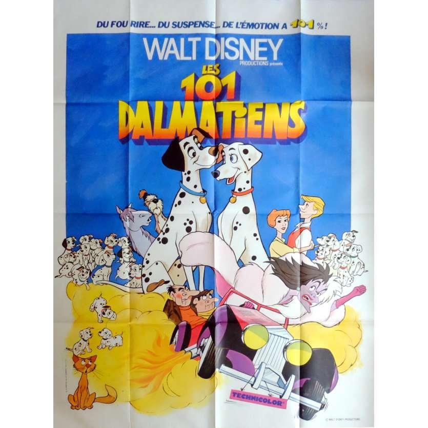 101 DALMATIANS Movie Poster 47x63 in. French - R1970 - Walt Disney, Rod Taylor