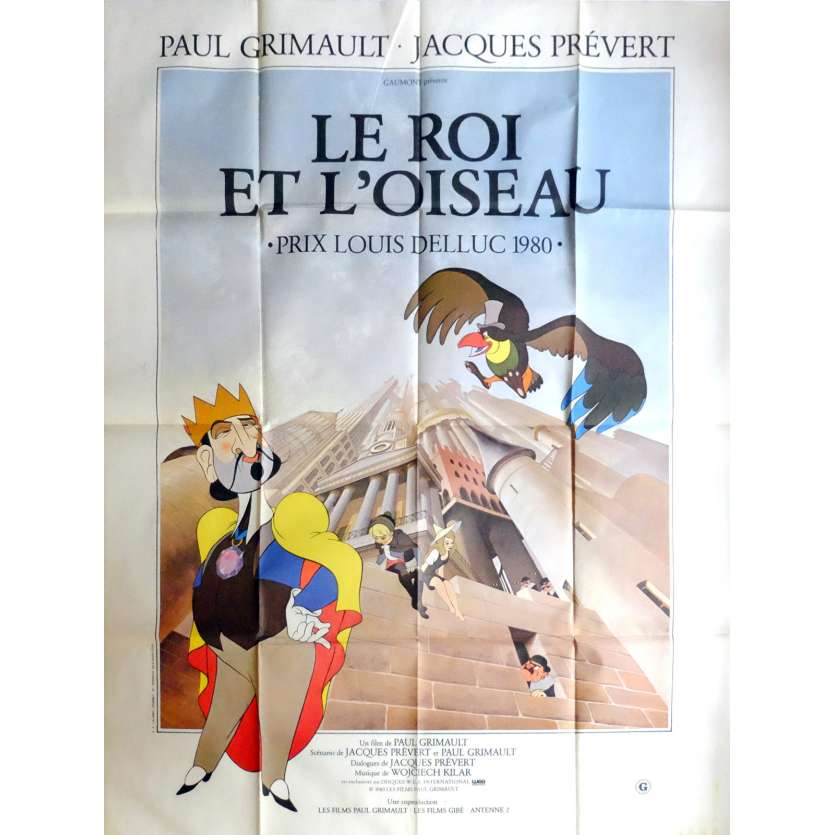 THE KING OF THE MOCKINGBIRD Movie Poster 47x63 in. French - 1980 - Paul Grimault, Jean Martin